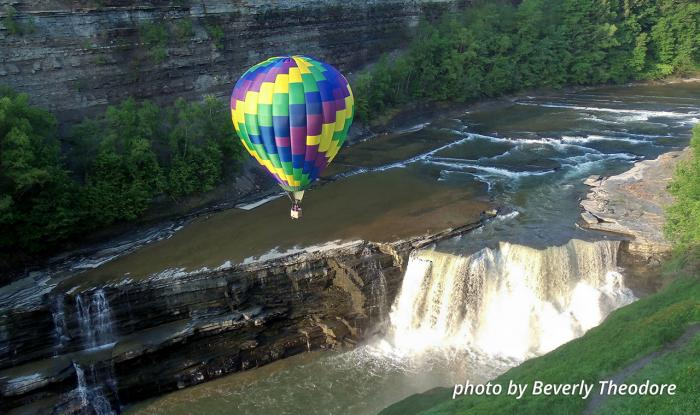 Letchworth State Park Balloon Over Falls - Beverly Theodore